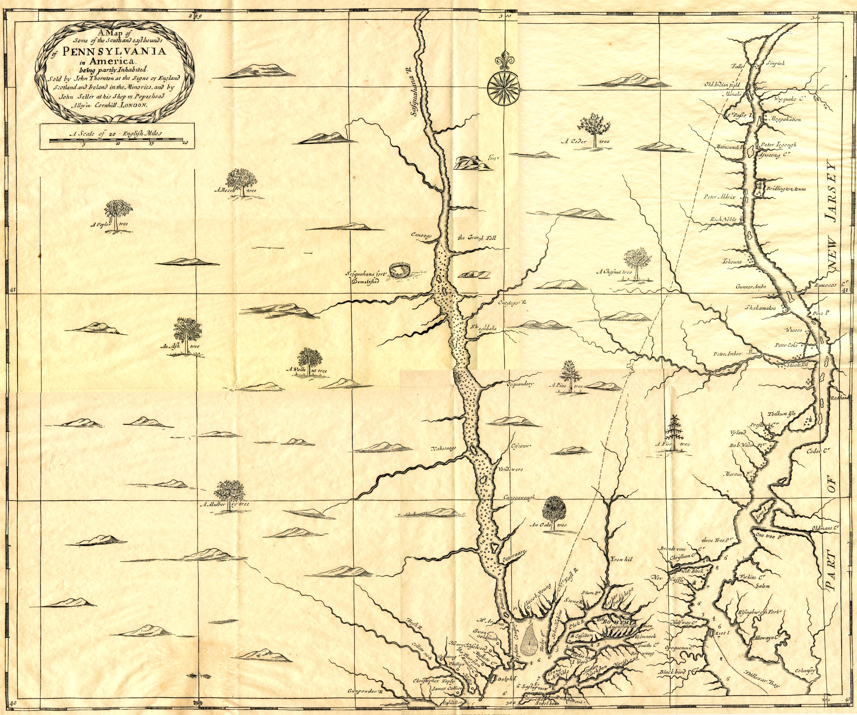PAgenealogynet Pennsylvania Historical Maps - Map of penn