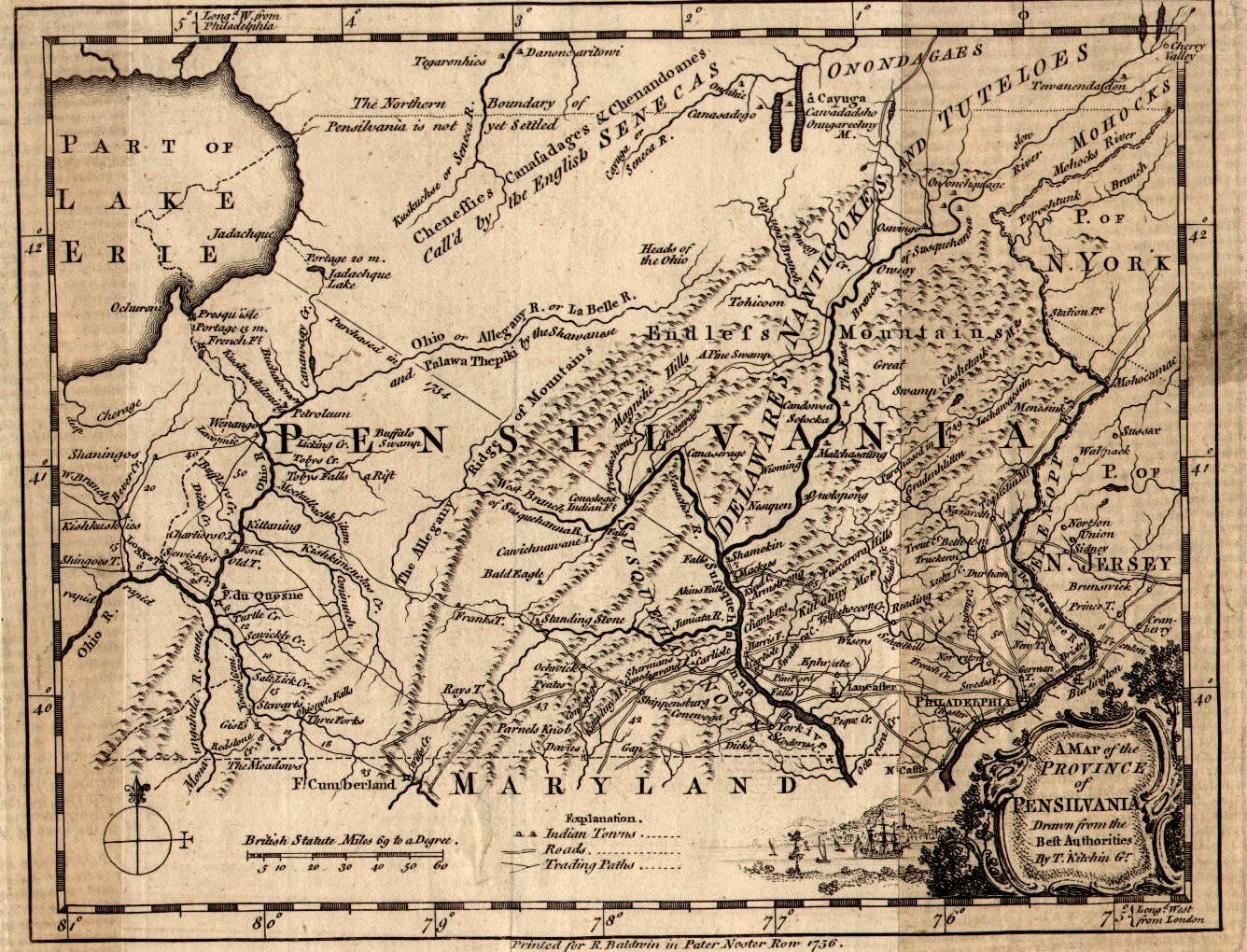 Pennsylvania A Map Of The Province Of Pensilvania Drawn From - Map of pennsylvania